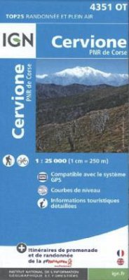 IGN Karte, Carte de randonnée (et plein air) Cervione