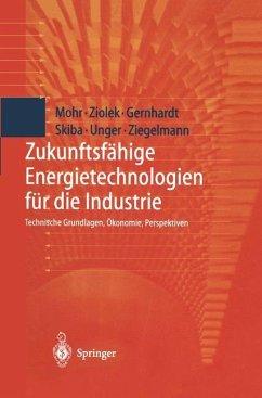 Zukunftsfähige Energietechnologien für die Industrie - Mohr, Markus; Ziolek, Andreas; Gernhardt, Dirk; Skiba, Martin; Unger, Hermann; Ziegelmann, Arko