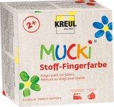 Hobby Line Mucki Fingerfarbe Textil 4er Set