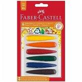 Faber-Castell 120404 - Malkreide Finger, 6er Set