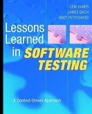 Lessons Learned in Software Testing (eBook, ePUB)