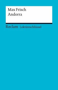 Lektüreschlüssel. Max Frisch: Andorra (eBook, PDF) - Kutzmutz, Olaf