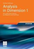 Analysis in Dimension 1 (eBook, PDF)