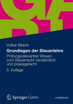 Grundlagen der Steuerlehre (eBook, PDF) - Beeck, Volker