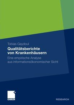 Qualitätsberichte von Krankenhäusern (eBook, PDF) - Gaydoul, Tobias