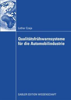 Qualitätsfrühwarnsysteme für die Automobilindustrie (eBook, PDF)
