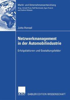 Netzwerkmanagement in der Automobilindustrie (eBook, PDF) - Hensel, Jutta