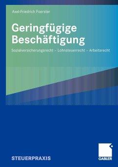 Geringfügige Beschäftigung (eBook, PDF) - Foerster, Axel-Friedrich