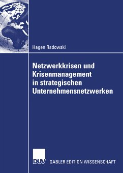 Netzwerkkrisen und Krisenmanagement in strategischen Unternehmensnetzwerken (eBook, PDF) - Radowski, Hagen