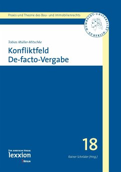Konfliktfeld De-facto-Vergabe (eBook, PDF) - Müller-Mitschke, Tobias