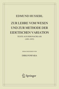 Zur Lehre vom Wesen und zur Methode der eidetischen Variation (eBook, PDF) - Husserl, Edmund
