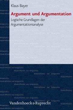 Argument und Argumentation (eBook, PDF) - Bayer, Klaus