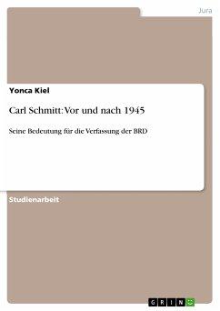 Carl Schmitt: Vor und nach 1945 (eBook, PDF)