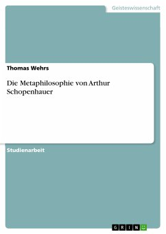 Die Metaphilosophie von Arthur Schopenhauer (eBook, PDF)