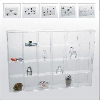 acryl vitrine mit 24 f cher. Black Bedroom Furniture Sets. Home Design Ideas