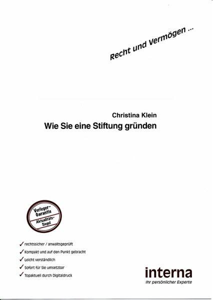 Stiftung gründen pdf