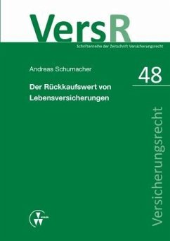 Der Rückkaufswert von Lebensversicherungen (eBook, PDF) - Schumacher, Andreas