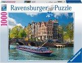 Ravensburger 19138 - Grachtenfahrt in Amsterdam, 1000 Teile Puzzle
