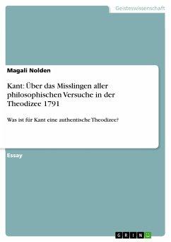 Kant: Über das Misslingen aller philosophischen Versuche in der Theodizee 1791 (eBook, PDF)