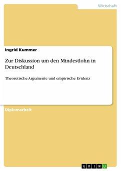 Zur Diskussion um den Mindestlohn in Deutschland (eBook, PDF)
