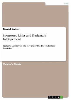 Sponsored Links and Trademark Infringement (eBook, PDF)