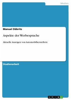 Aspekte der Werbesprache (eBook, PDF)