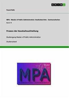 Prozess der Haushaltsaufstellung (eBook, PDF)