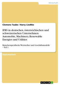 Identifizierung und Analyse branchenspezifischer Werttreiber und Geschäftsmodelle - Teil 1: Analyse der branchenspezifischen Anwendung der IFRS in deutschen, österreichischen und schweizerischen Unternehmen (eBook, PDF)