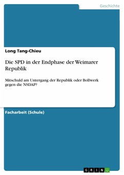 Die SPD in der Endphase der Weimarer Republik (eBook, PDF)