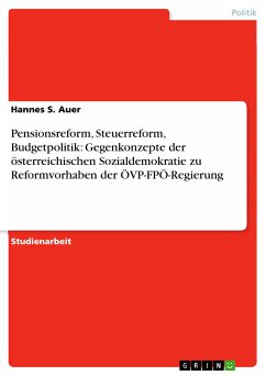 Pensionsreform, Steuerreform, Budgetpolitik: Gegenkonzepte der österreichischen Sozialdemokratie zu Reformvorhaben der ÖVP-FPÖ-Regierung (eBook, PDF)