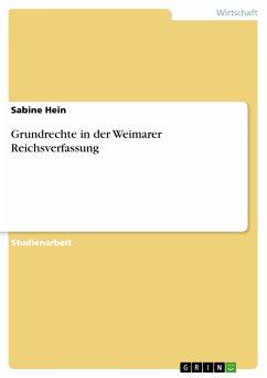 Grundrechte in der Weimarer Reichsverfassung (eBook, PDF)