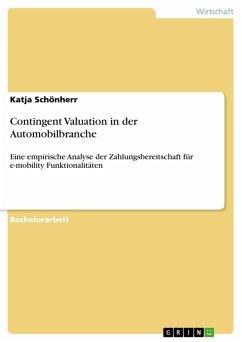 Contingent Valuation in der Automobilbranche (eBook, PDF)