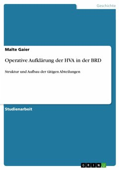 Operative Aufklärung der HVA in der BRD (eBook, PDF) - Gaier, Malte