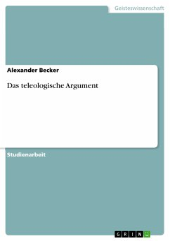 Das teleologische Argument (eBook, PDF)