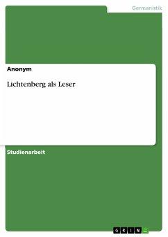 Lichtenberg als Leser (eBook, PDF)