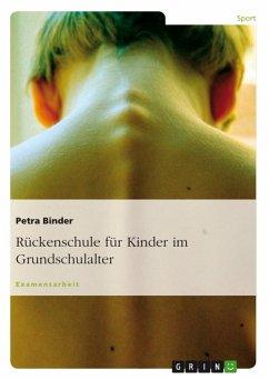 Rückenschule für Kinder im Grundschulalter (eBook, PDF)