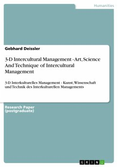 3-D Intercultural Management - Art, Science And Technique of Intercultural Management (eBook, PDF) - Deissler, Gebhard