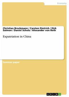 Expatriation in China (eBook, PDF)