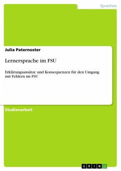 Lernersprache im FSU (eBook, PDF) - Paternoster, Julia