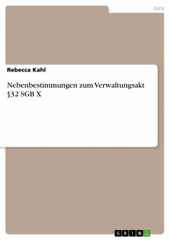 Nebenbestimmungen zum Verwaltungsakt §32 SGB X (eBook, PDF)
