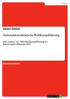 Nationaldemokratische Wahlkampfführung (eBook, PDF)