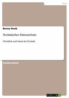 Technischer Datenschutz (eBook, PDF)