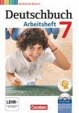 Deutschbuch 7. Jahrgangsstufe. Arbeitsheft mit Lösungen und Übungs-CD-ROM. Realschule Bayern