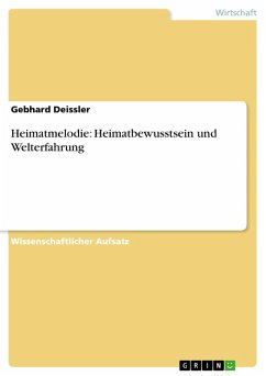 Heimatmelodie: Heimatbewusstsein und Welterfahrung (eBook, PDF)