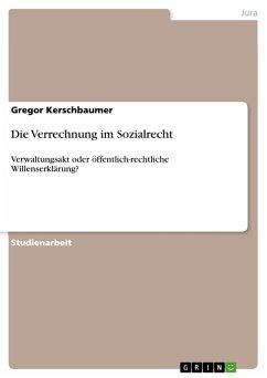 Die Verrechnung im Sozialrecht (eBook, PDF)