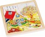 Schichtenpuzzle Jahreszeiten (Holzpuzzle)