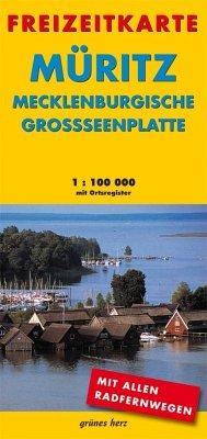 Freizeitkarte Müritz, Mecklenburgische Großseenplatte