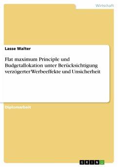 Flat maximum Principle und Budgetallokation unter Berücksichtigung verzögerter Werbeeffekte und Unsicherheit (eBook, PDF)