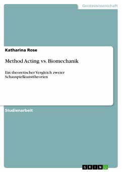 Method Acting vs. Biomechanik (eBook, PDF)