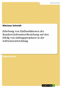 Erhebung von Einflussfaktoren der Kunden-Lieferanten-Beziehung auf den Erfolg von Auftragsprojekten in der Softwareentwicklung (eBook, PDF)